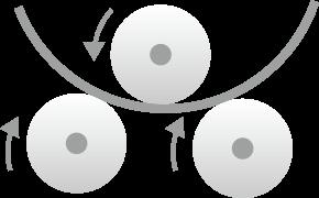 ロール曲げのイメージ図