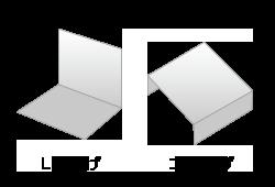 板材のL字曲げ・コ字曲げのイメージ図