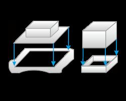 縁切り加工のイメージ図